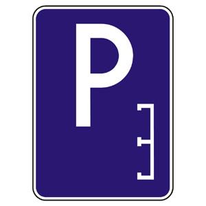 IP13c: Parkovisko (pozdĺžne státie)