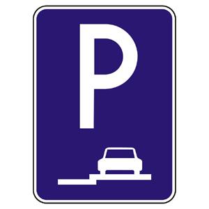 IP14b: Parkovisko (státie na chodníku pozdĺžne)