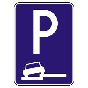 IP15b: Parkovisko (čiastočné státie na chodníku pozdĺžne)
