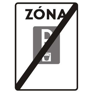 IP27b: Koniec zóny s plateným parkovaním