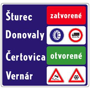 IP34b: Všeobecné informácie o dopravných obmedzeniach