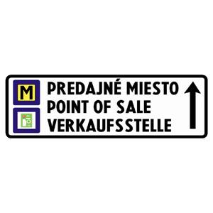 IS22c: Smerová tabuľa k predajnému miestu