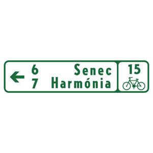 IS40d: Smerová tabuľa pre cyklistov (s dvoma cieľmi)