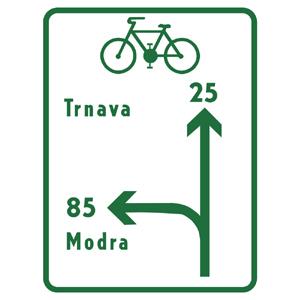IS40e: Návesť pred križovatkou pre cyklistov