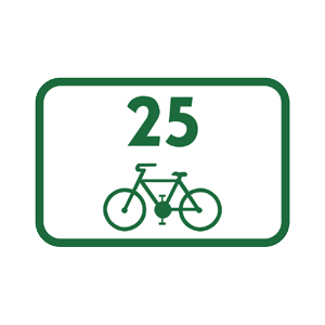 IS40f: Smerová tabuľa pre cyklistov