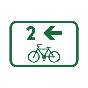 IS40g: Smerová tabuľa pre cyklistov
