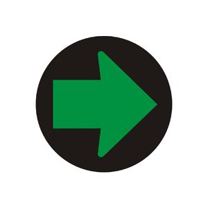 Doplnkový signál so zeleným svetlom v tvare šípky