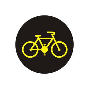 Doplnkový signál s prerušovaným žltým svetlom v tvare cyklistu