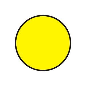 """""""Signál s plným žltým svetlom so znamením """"""""Pozor!"""""""""""""""