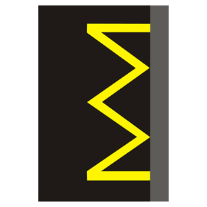 V12a: Žltá kľukatá čiara