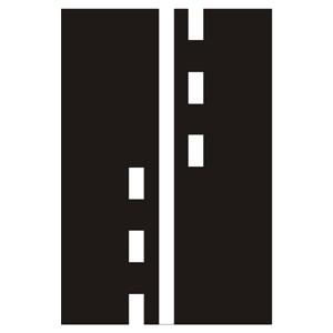 V3: Pozdĺžna súvislá čiara doplnená prerušovanou čiarou