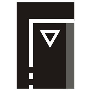 """V5b: """"Priečna súvislá čiara so symbolom """"""""Daj prednos v jazde!"""""""""""""""