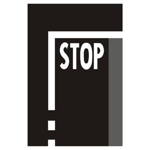 """V5c: """"Priečna súvislá čiara s nápisom """"""""STOP"""""""""""""""